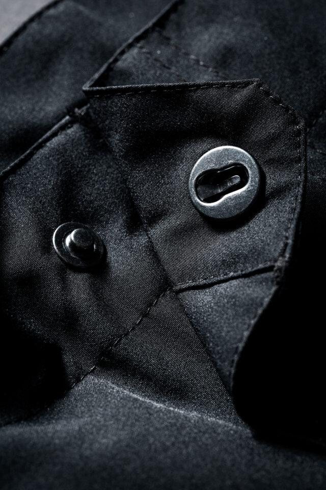GHOGH GO all black softshell MTB shorts knapp