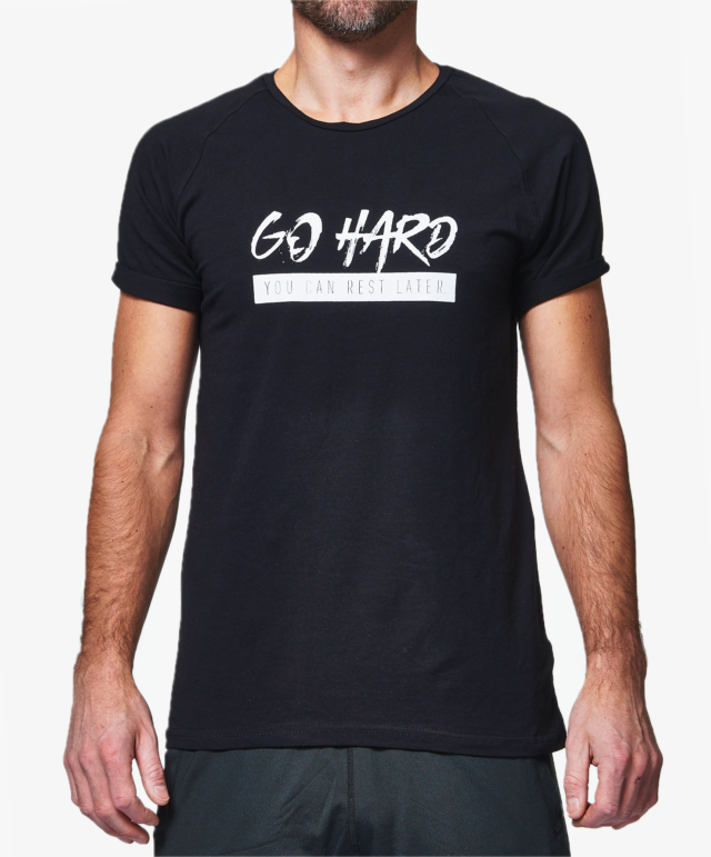GHOGH_GO HARD T-shirt Black