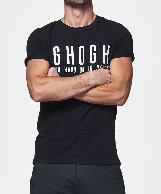 GHOGH_T-Shirt_GO HARD OR GO HOME print