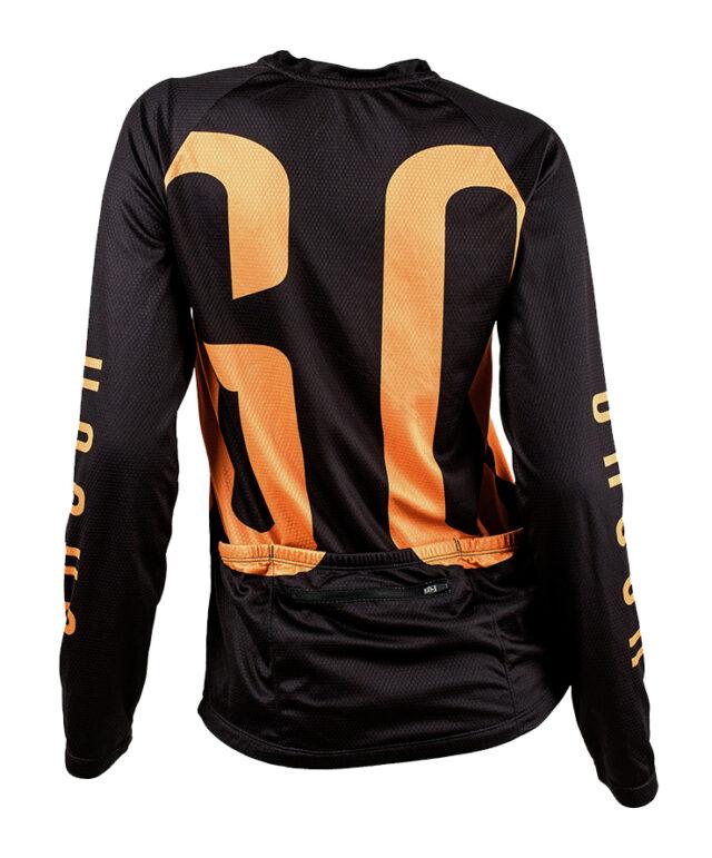 GO long sleeve MTB jersey cykeltröja orange back