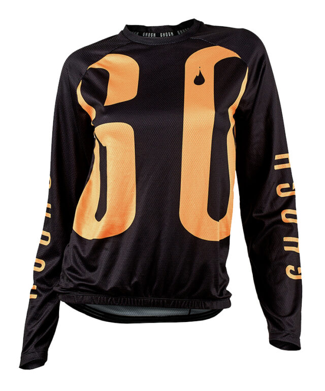 GO long sleeve MTB jersey cykeltröja orange front