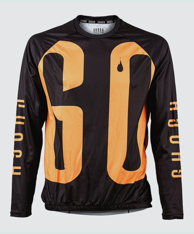 GO long sleeve MTB jersey cykeltröja orange front