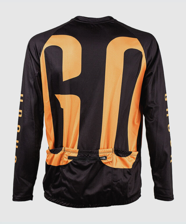 GO long sleeve MTB jersey cykeltröja orange back