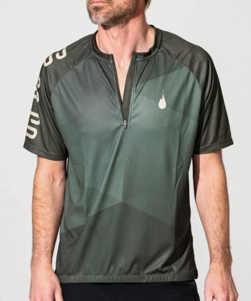 Short sleev MTB Jersey med Zipper